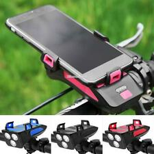 Bicycle Light with Bike Horn/Phone Holder/Power Bank OR Bicycle Phone Holder