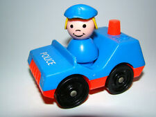 Vintage Fisher-Price Little People Police Woman and Police Car
