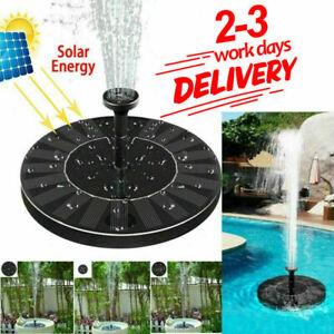 Birdbath Solar Panel Powered Floating Pump Water MINI Fountain Pool Garden Decor