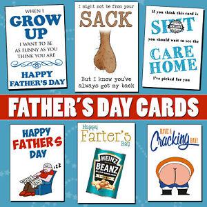 Funny Fathers Day Card Dad Grandad Stepdad Father Daughter Son Joke Rude Him Fun