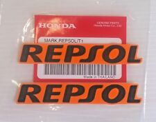 2 X Pegatina de Honda Repsol Mark Calcomanía 2 X 90 mm Naranja/Negro 100% Original