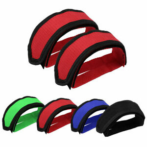 1 Pair Cycling Bike Anti-slip Fixed Grear Bicycle Pedals Toe Clips Foot Straps