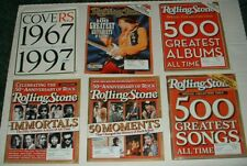 ROLLING STONE MAGAZINE LOT OF 5 COLLECTORS & 50TH ANNIVERSARY ISSUES HENDRIX