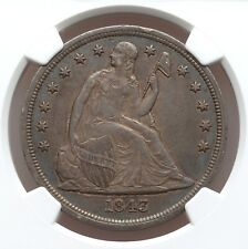 1843 Seated Dollar NGC XF45 Better Date Nice Type Coin Low 165,100 Mintage