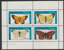 GB Locals - Eynhallow 2482 - 1982 papillons PERF feuillet non montés excellent