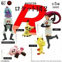 PUTITTO Team Rocket 2 Pokemon All 5 set Gashapon mascot toys Complete set
