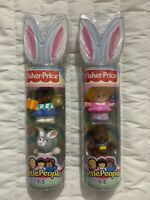 Fisher Price Little People Figures L5783 L5786 Easter 2006 Limited Edition New