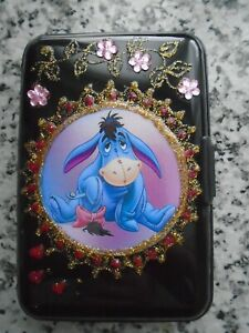 """NEW SCAM PROOF CREDIT CARD CASE """"EEYORE  """" PICTURE . RFID PROTECTED"""