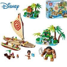 Disney Moana Mini Action Figures Doll Building Blocks Game Kids Educational Toy