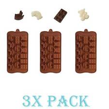 3 Pack Silicone Gummy Block Bear Car Baby Toy Mold candy Ice cube Chocolate Soap