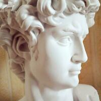 David Head Portraits Bust Mini Plaster Statue Michelangelo Resin Decor L4H8