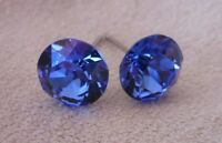 HYPOALLERGENIC Stud Earrings  Swarovski Elements Crystal in Sapphire Color