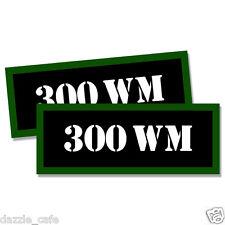 "300 WM Ammo Can 2x 300 WM Labels Ammunition Case 3""x1.15"" stickers decals 2 pack"