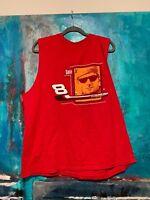 VTG Dale Earnhardt Winners Circle Sleeveless T Shirt Red Dale Jr 8 Mens Size XL