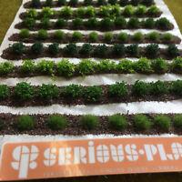 Large Farm Crops x8 Set 01-Model Railway Static Grass Tufts Garden Field Scenery
