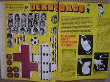 GIOCO DERBY DADO JUVENTUS TORINO 1976 IL GIORNALINO SQUADRE DA RITAGLIARE