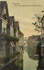1905-1909 Postcard; Canterbury, Weaving School and River Stour, Kent Uk posted