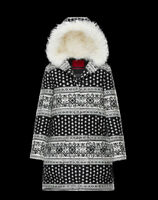 Moncler Gamme Rouge Women's Size 1/Small Sophie J Wool Coat - Black/White