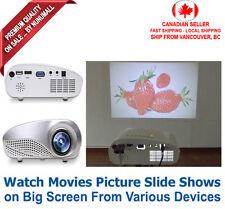 1080p Portable Mini Multimedia LED Projector Home Cinema AV USB SD HDMI TV VGA