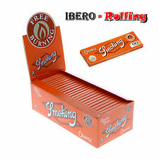 Papel Smoking Naranja Caja de 50 libritos. Nuevo Tamaño Pequeño