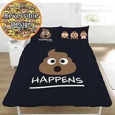 EMOJI DOUBLE  QUILT COVER, BRAND NEW, SH#T HAPPENS  REVERSABLE, ,ICONS, NEW