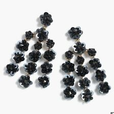 Sold Out!💕 New$65 Black J.Crew Sequin-Daisy Chandelier Earrings!