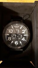 NIXON THE51-30 CHRONO Quartz Analog SS BLK NEW A083001
