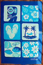 Rarotonga, Cook Islands, Souvenir 100% Cotton Kitchen Tea Towel