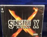 Sinister X - X-Tras CD horrorcore bad min bob e Nite sycksyde II Rel undergound