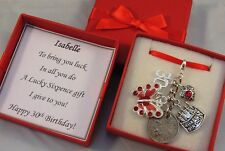 LUCKY SIXPENCE CHARM, 30th BIRTHDAY GIFT, PERSONALISED