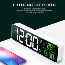 LED Digital Tischuhr Wecker Uhr Alarm Thermometer Datum mit Temperaturanzeige DE