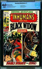 Amazing Adventures #1 (Second Series) CBCS 4.0 VG - Inhumans, Black Widow-1970