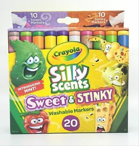 Crayola Silly Scents Sweet and Stinky Markers for Kids 20 Count Ages 3+