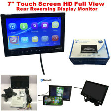 """7"""" Touch Screen HD Full View Rear Reversing Display Monitor Bluetooth USB Video"""