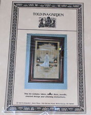 """Told in a Garden """"Victorian Bride"""" Personalized Wedding Day Cross Stitch Kit NIP"""