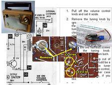 Admiral 231, 237, 531, 537, 8K1, 8L1 Electrolytic Capacitor Recap Kit