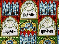 FAT QUARTER  HARRY POTTER FABRIC STAINED GLASS  QUIDDITCH  MAGIC CAMELOT COTTONS