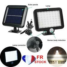 2pc 56LED Lampe Solaire Projecteur Capteur Détecteur Mouvement Jardin Extérieur