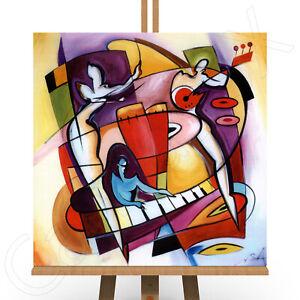 Abstract Framed Canvas Print Piano Sax Jazz Music Wall Art Stroking The Keys