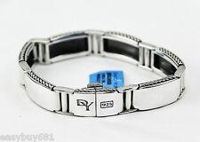 David Yurman Luxury Sterling Silver Streamline Link Bracelet Clasp Lock New Box