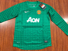 2012-13 Nike Manchester United Youth Home LS Soccer Jersey Large L Green Boys