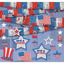 Patriotic Party Room Decorating Kit #392819