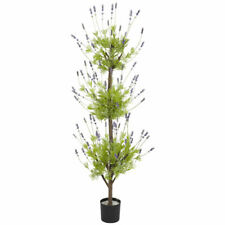 NEW 4' DOUBLE BALL ARTIFICIAL SILK LAVENDER FAKE TOPIARY TREE