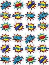 Superhéroe Batman Pop Art discurso Burbuja de Papel De Arroz Comestible Cupcake Toppers