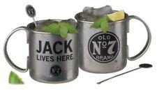 Jack Daniels Tennessee Moscow Mule Mug Set (2) Stainless Steel 16oz. Whiskey Bar