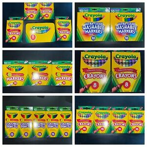 New Huge Lot Crayola crayons, pencils, markers, total 198 pieces