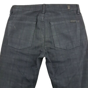 7 For All Mankind USA Jeans Slimmy Fit Zip Fly Size Tag 32 Mens W35 JE117