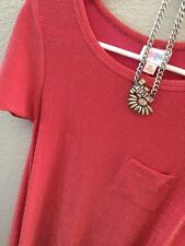 NWT LuLaRoe Elegant Collection XS Coral Carly Dress Silver/gold Fashion Necklace