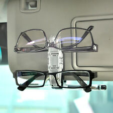 Double-clip Plastic Car Sun Visor Sunglasses/Eye Glasses Clip Holder