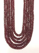 5 strand Natural Ruby Gemstones Beads Necklace india